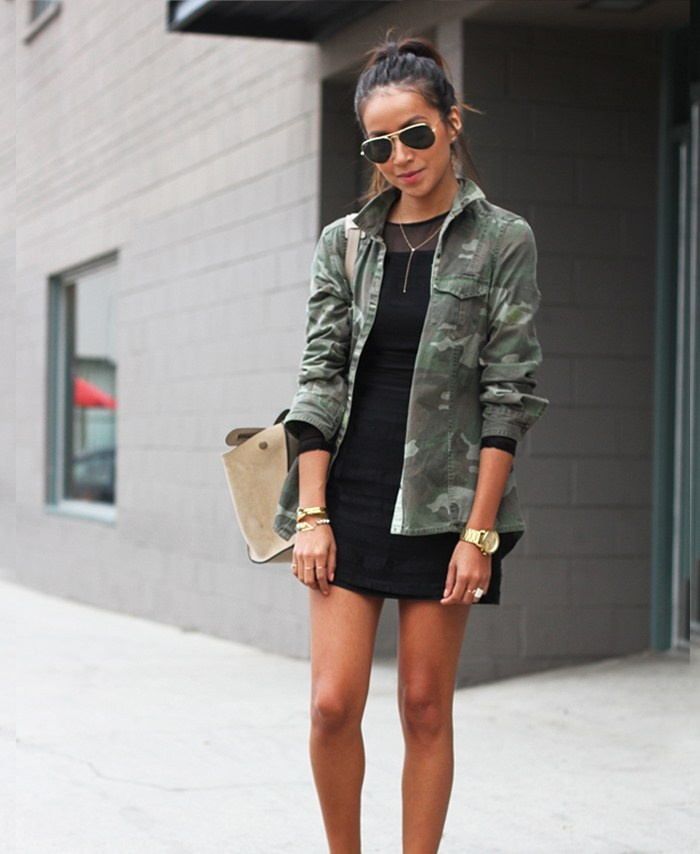 Camo going out outfit