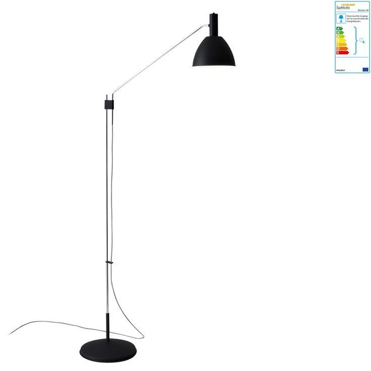 Perfect Lumini Bauhaus Stehleuchte schwarz Jetzt bestellen unter https moebel ladendirekt de lampen stehlampen standleuchten uid udfeb e e bf