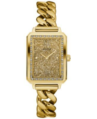 GUESS Women's Gold-Tone Stainless Steel Chain Link Bracelet Watch 28mm U0896L2 | macys.com