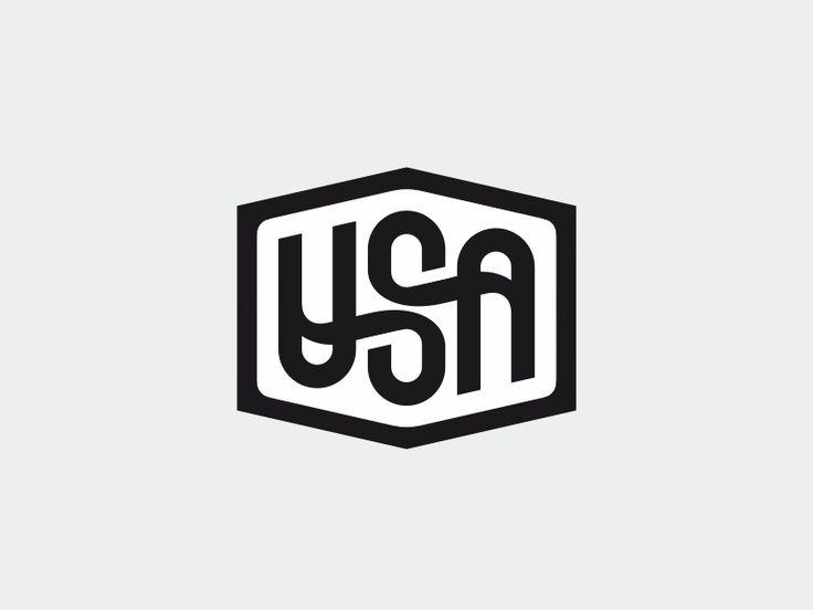 Usa ambigram by Sergey Yakovenko