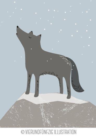 Tiere des Waldes: der Wolf. Dezembermotiv für den neuen Kalender 2015