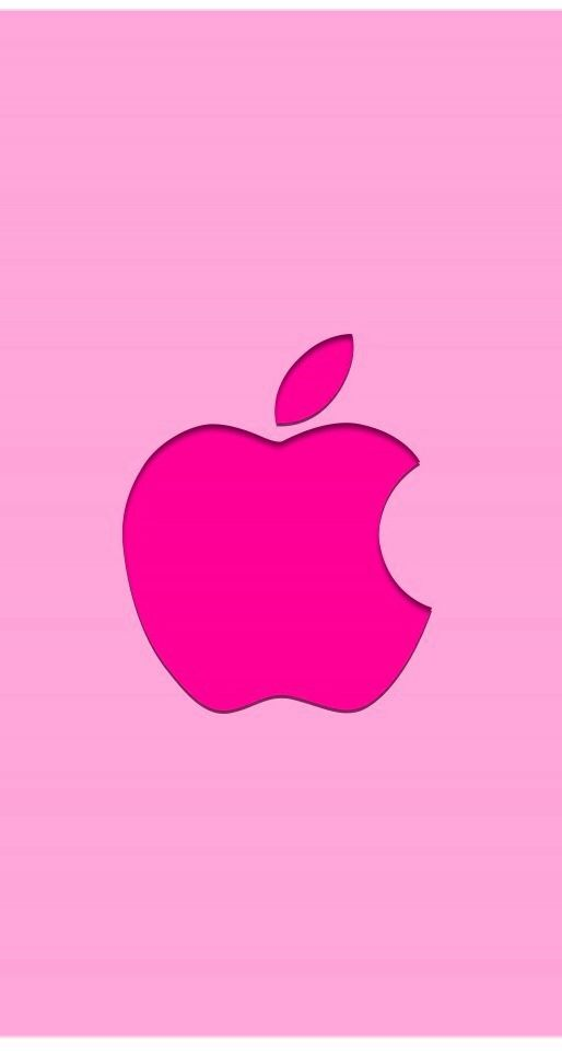 pink apple logo wallpaper pomme pinterest