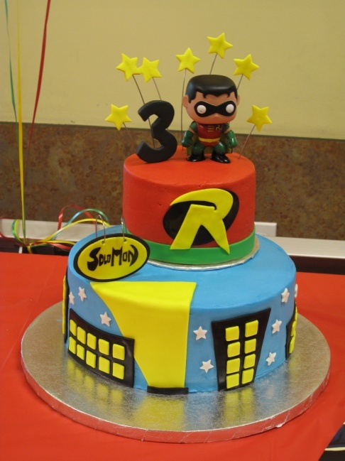 Superb Batman And Robin Mostly Robin With Images Character Cakes Personalised Birthday Cards Vishlily Jamesorg