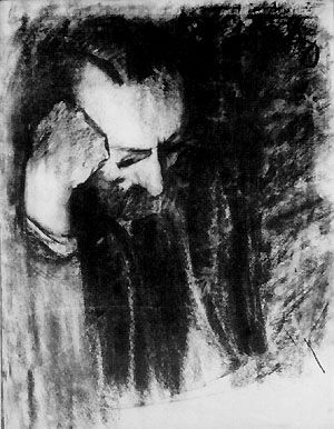 Portrait of Feliks Jasinski by Karol Tichy