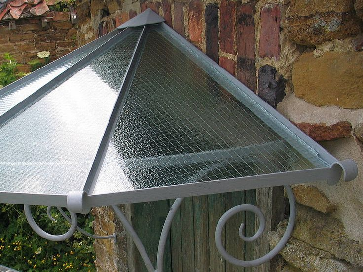 Hand Forged Antique French Style Door Canopy By Sculpsteel