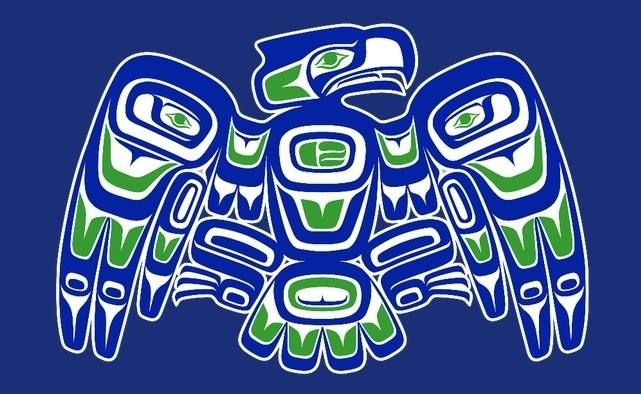 Go hawks nw indian style seattle seahawks pinterest for Native american tattoo artist seattle