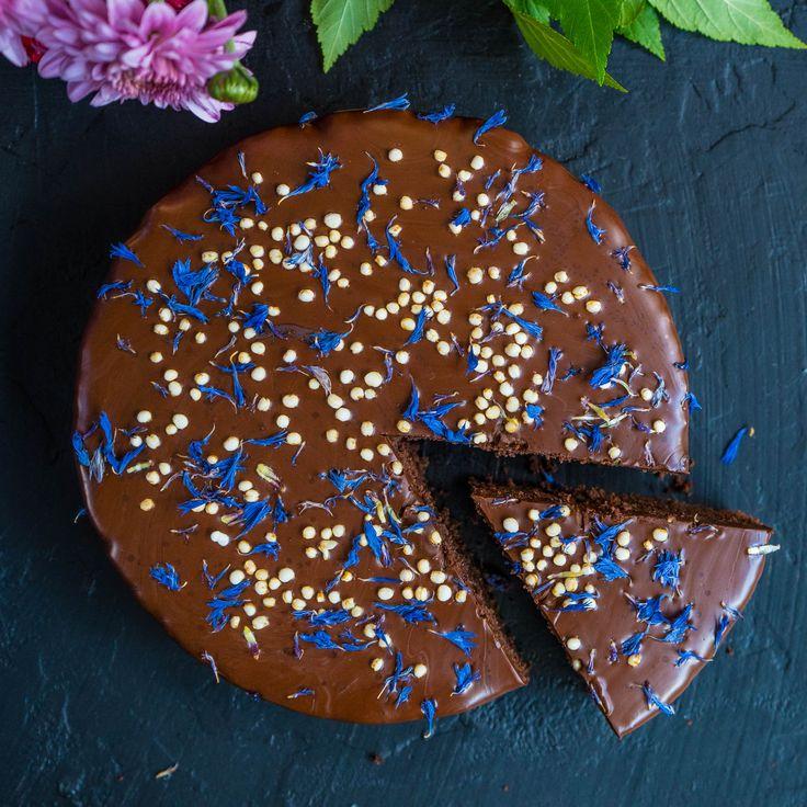Gesunder Schokoladenkuchen vegan (für eine 20 cm Auflaufform)