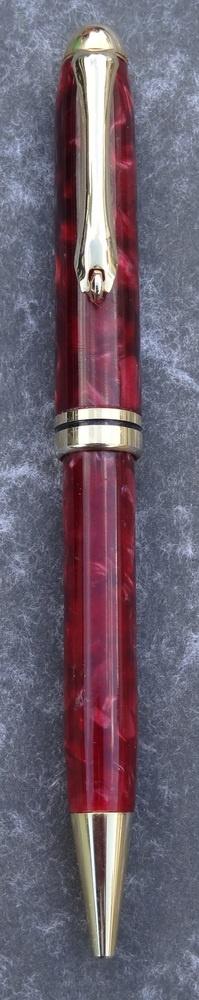 Hand made Crushed Velvet European style Pen (Dark Red) £12.95
