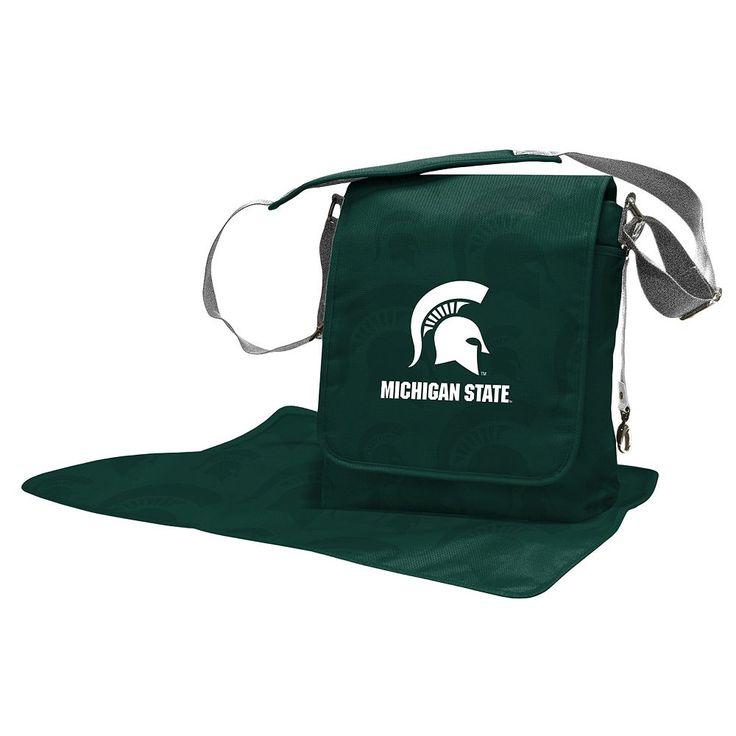 Michigan State Spartans Lil' Fan Diaper Messenger Bag, Green