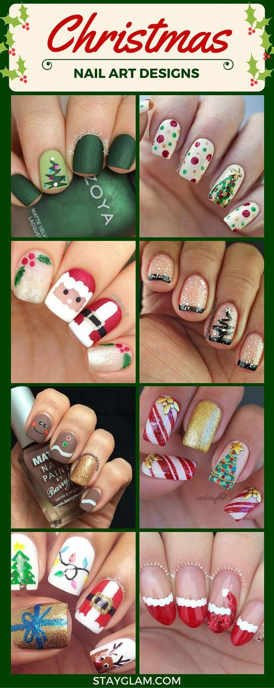 51 Christmas Nail Art Designs & Ideas for 2018