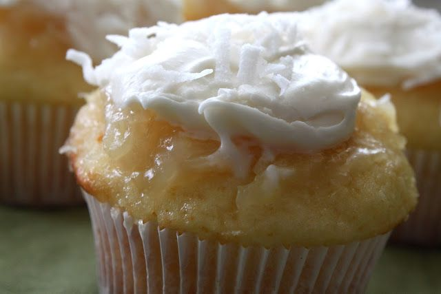 A Bountiful Kitchen: Pineapple-Coconut Cupcakes with Buttermilk-Cream Cheese Frosting