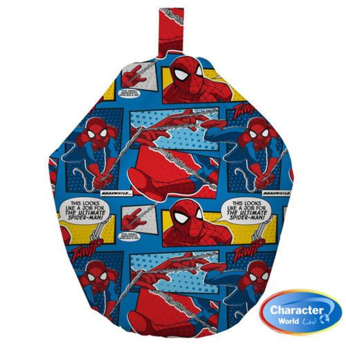 This looks like a job for the ultimate Spider-man!  This childrens bean bag is an officialy licenced Spiderman webhead bean bag. The design has black framed images, which features various spiderman phrases in speech bubbles.   This Spiderman Bean Bag Has Fast & Free Delivery  Within The UK!!