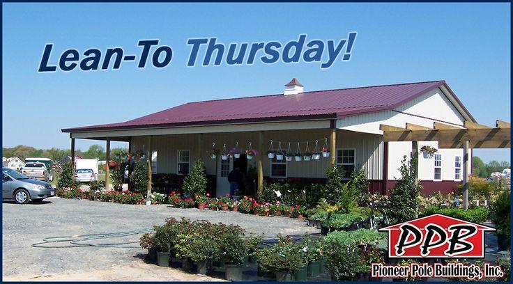LeanTo Thursday! Building Dimensions 30' W x 50' L x 12