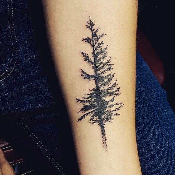 Douglas Fir tree tattoo