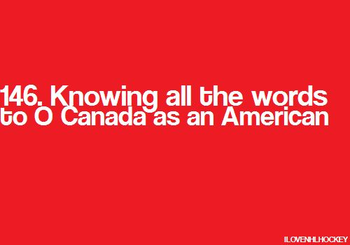 Besty national anthem ever! Love when my boys play a canadian team, just for this reason!
