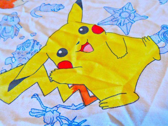Vintage Nintendo Pokemon Bed Sheet by AbigailJeansStuff on Etsy, $16.50