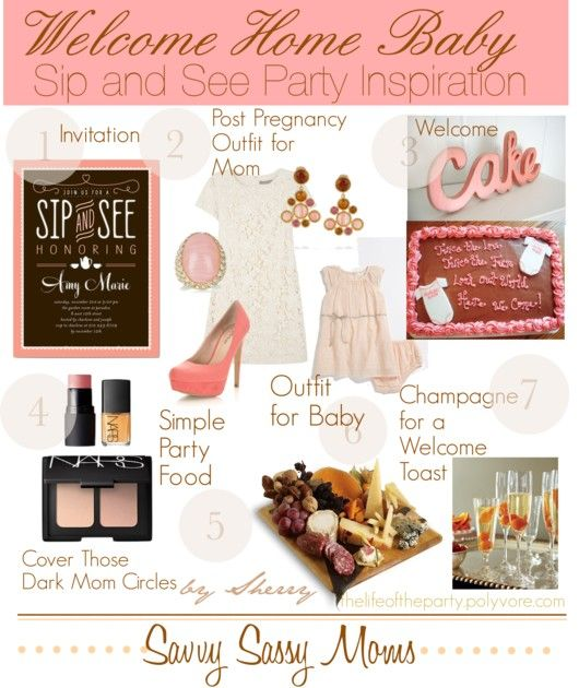 Beautiful Sip & See party inspirations  but with Mary Kay yellow concealer and eye cream!