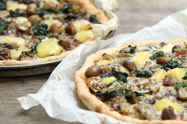 Chestnut, mushroom and Taleggio cheese quiche by California Bakery