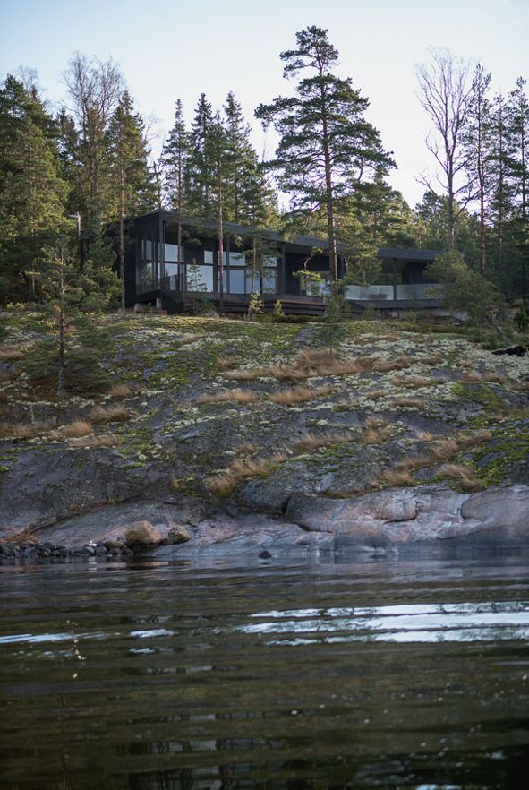 Moderni puuhuvila    Modern wooden housing    Finland    www.honkatalot.fi