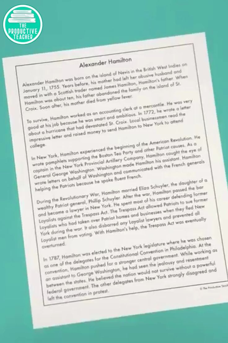 Predownload: American Revolution Reading Comprehension Passage Alexander Hamilton Reading Comprehension Reading Comprehension Passages Comprehension Passage [ 1104 x 736 Pixel ]