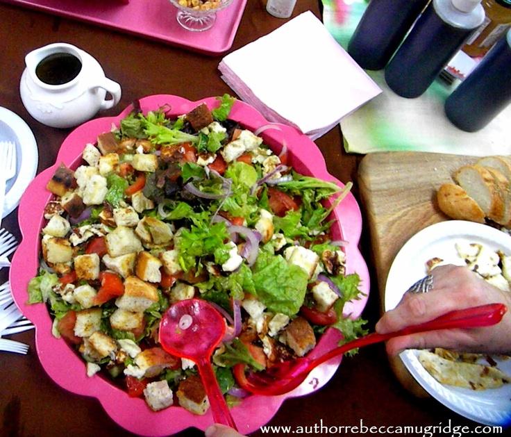 The Haloumi bread salad at the Caloundra Edible Sunshine Coast event