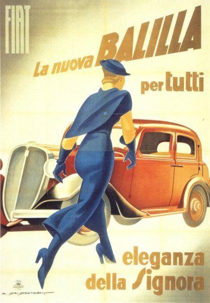 # 0 I Marcello Dudovich, Fiat Balilla ad, 1934 by Gatochy
