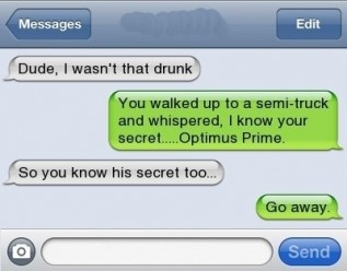 A collection of funny drunk texts