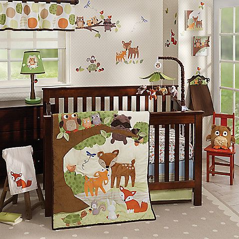 Transform your nursery into a forest full of animal friends with the Woodland Tales Bedding Collection from Lambs & Ivy. The collection includes a 4-Piece Bedding Set, a Crib Bumper, Canvas Wall Art and other items in soothing, earthy tones.