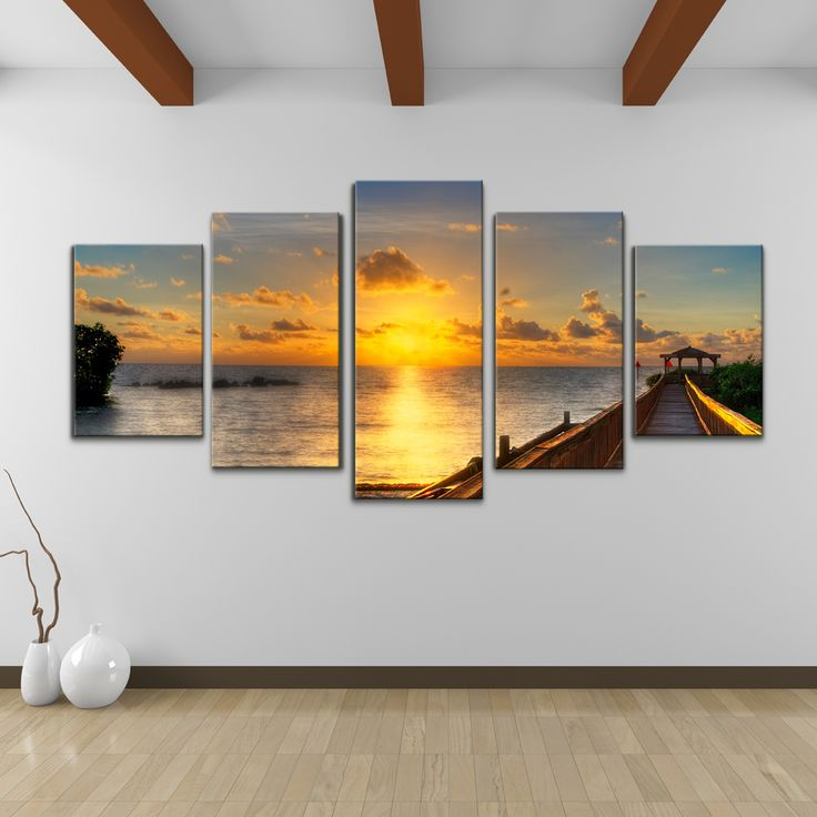 Bruce Bain 'Key's Sunrise' 5-piece Set Canvas Wall Art | Overstock™ Shopping - Top Rated Ready2hangart Canvas