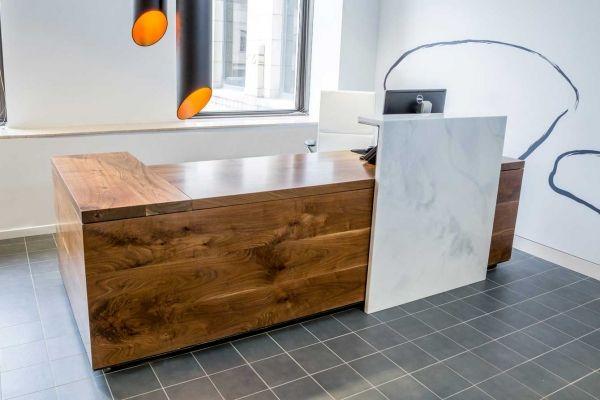 74 best images about office design on pinterest office for Granite desk top design