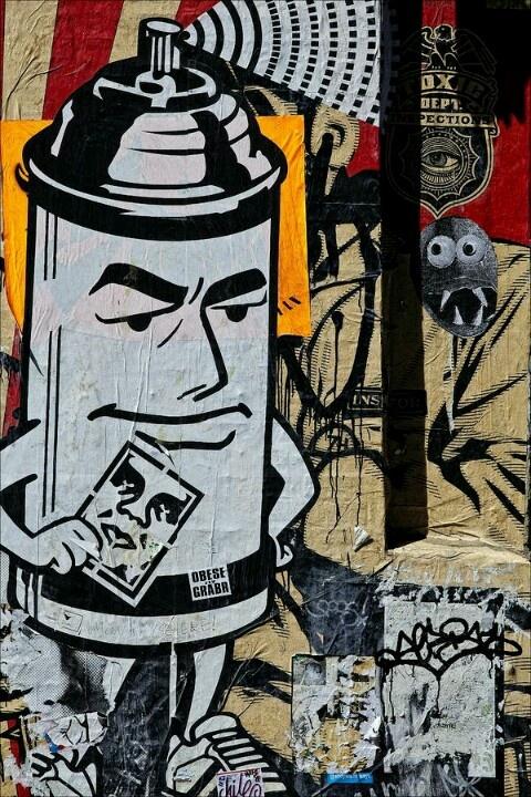 les 127 meilleures images du tableau shepard fairey sur pinterest art urbain affiches et art. Black Bedroom Furniture Sets. Home Design Ideas