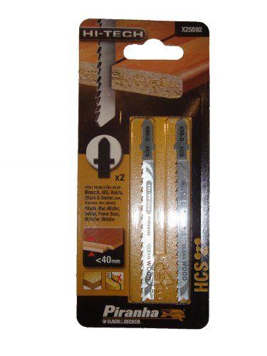 Piranha X25592-XJ HCS Lame de scie sauteuse pour bois stratifié queue en T: L'article Piranha X25592-XJ HCS Lame de scie sauteuse pour bois…