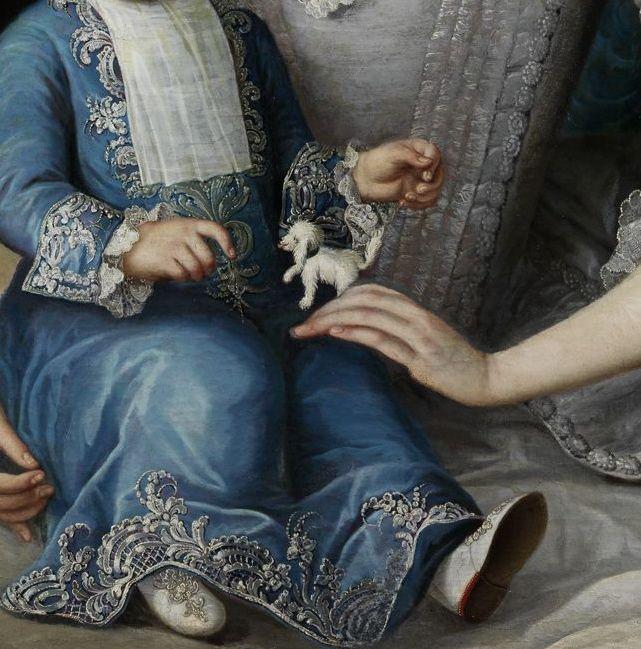 Attributed to Johann Michael Millitz (1725-1779 Portrait einer Dame mit Kleinkind, aus altem ungarischen Privatbesitz.) by 1779