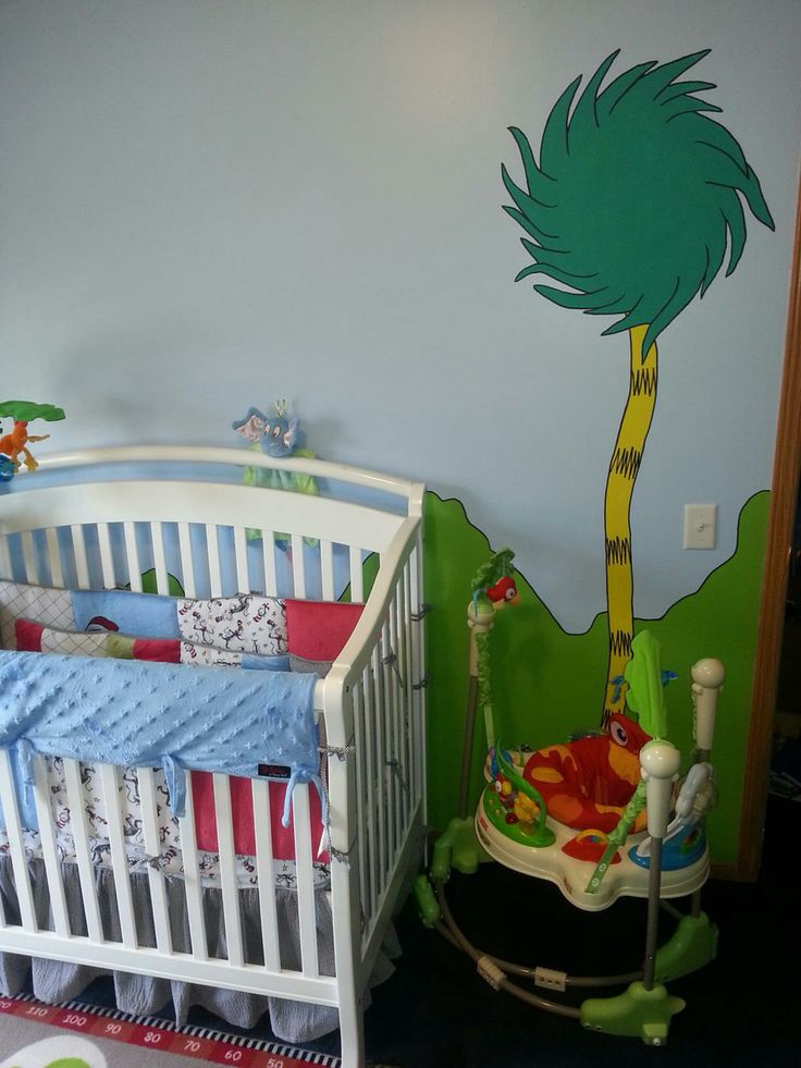 215 best images about dr seuss nursery on pinterest for Dr seuss nursery mural
