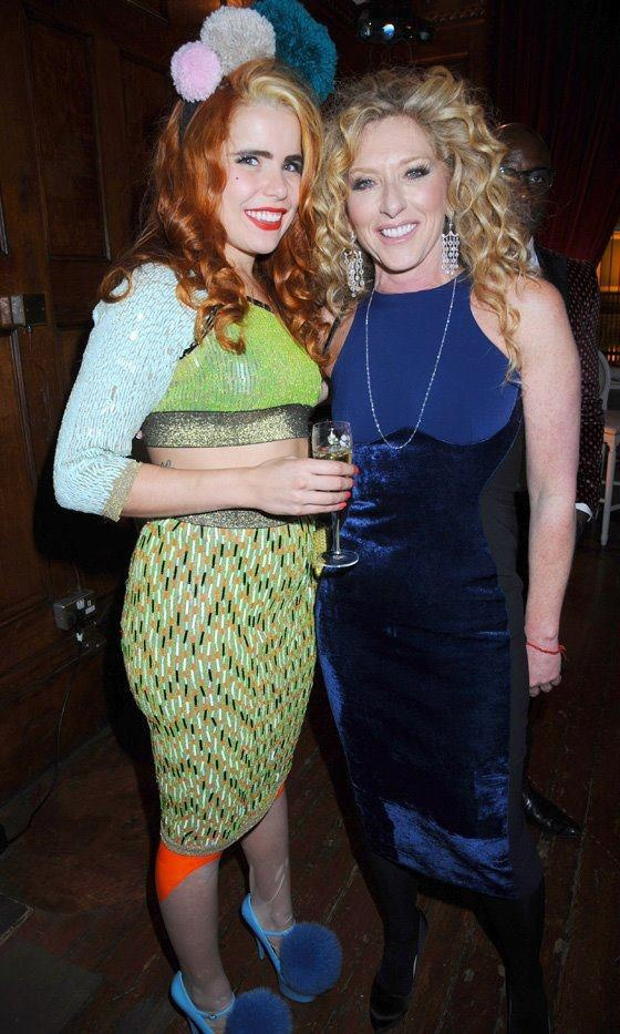 PALOMA FAITH WEARS #JOANNEHYNES LATEX CUBAN HOLD UP TIGHTS, SEQUIN TOP AND SKIRT FROM SS12 PLASTISCOPE COLLECTION, LONDON.  SHOP:http://www.joannehynes.com/shop/clothing/
