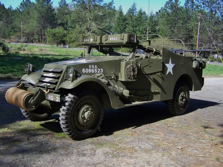 Rare WW2 1943 White M3A1 Scout Car Immaculate Throughout ...