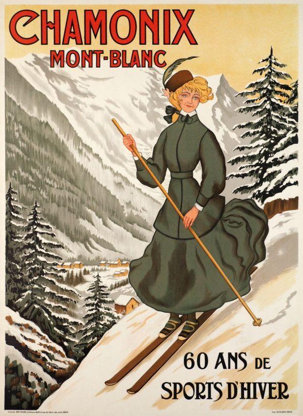 Chamonix, Mont-Blanc. 60 ans de sports d'hiver....reépinglé par Maurie Daboux ❥•*`*•❥