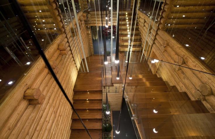 Le Marron Restaurant- Log wood