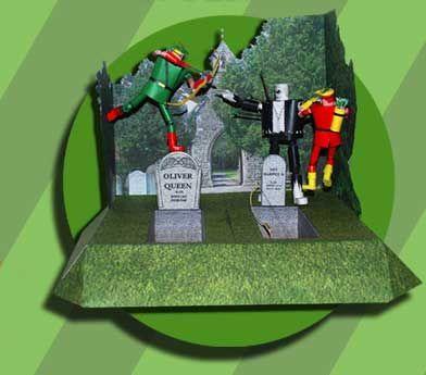 Green Arrow vs. Solomon Grundy Diorama Free Papercraft Download - http://www.papercraftsquare.com/green-arrow-vs-solomon-grundy-diorama-free-papercraft-download.html#Diorama, #GreenArrow, #SolomonGrundy