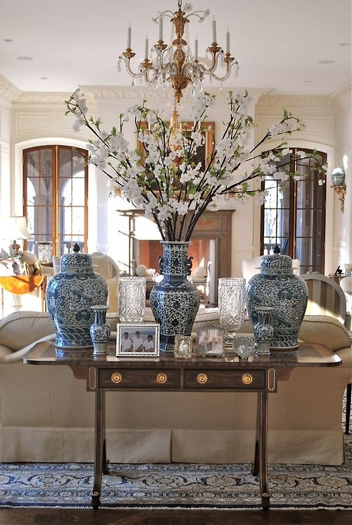 Living Room Vase Decoration 138 best blue and white images on pinterest | blue and white