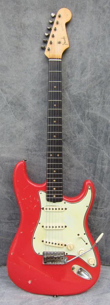 Fender Stratocaster 1963 Fiesta Red #vintageguitars