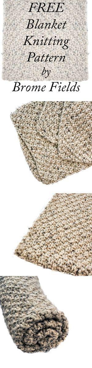 FREE Blanket Knitting Pattern by Brome Fields