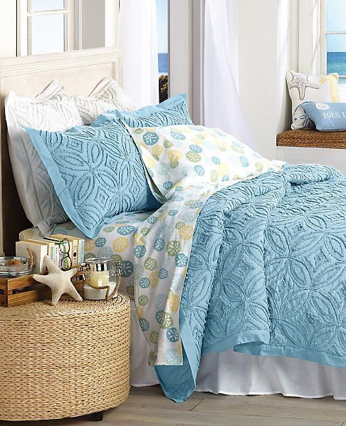 Sand dollar sheets and pillow cases on sale! Featured here: http://www.completely-coastal.com/p/coastal-sale-island.html