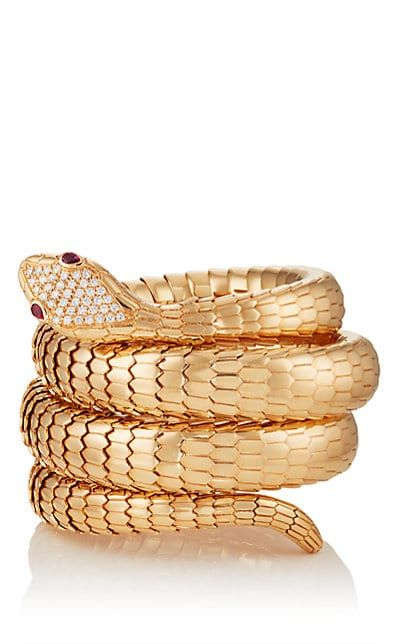 We Adore The Il Serpente Triple Coil Bracelet From Sidney Garber At