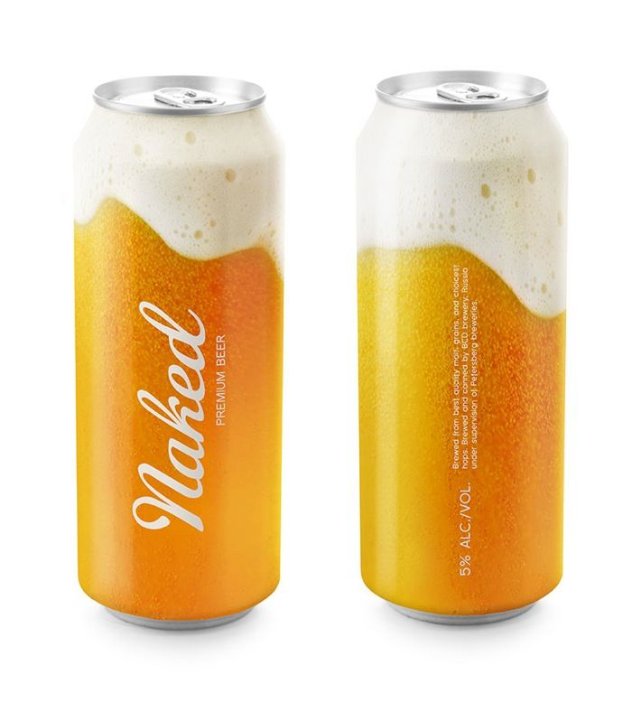 Naked Beer packaging design
