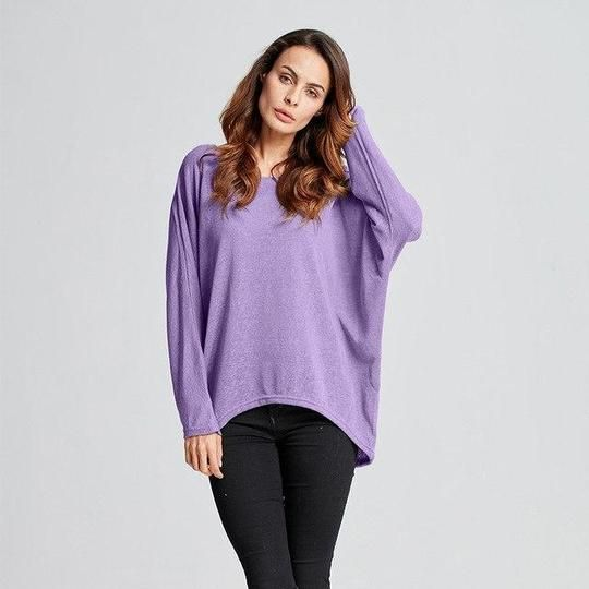 ZANZEA Plus Size Sweater Women Batwing Sleeve Blouse 2018 Autumn Casual Loose Long Sleeve Tops Shirt Sweater Jumper Pullovers 13