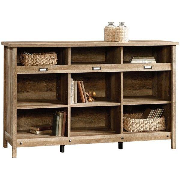 Adept Storage Credenza - Craftsman Oak - Sauder : Target ($33) ❤ liked on Polyvore featuring home, furniture, storage & shelves, oak furniture, storage furniture, oakwood furniture, arts crafts furniture and oak wood furniture
