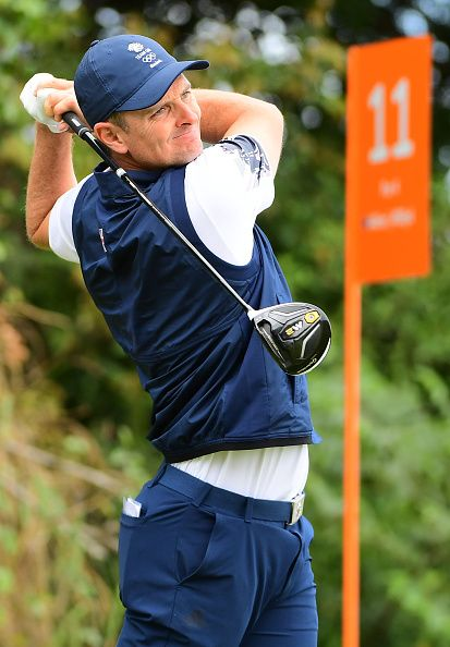 #RIO2016 Britain's Justin Rose competes in the men's individual stroke play at the Olympic Golf course during the Rio 2016 Olympic Games in Rio de Janeiro on...