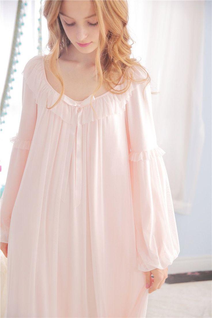 Lily's Secret Ultra Soft Gauze Vintage Night Gown Women Spring