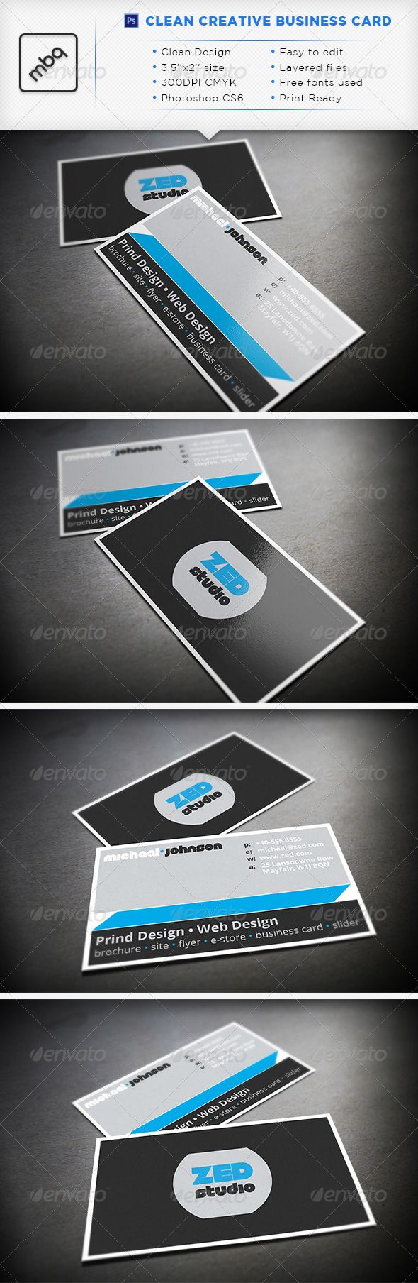 88 best print templates images on pinterest business cards name clean creative business card graphicriver clean creative business card fully editable d files reheart Images
